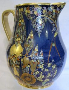 Carlton Ware Fantasia Art Deco Enamelled Large Jug/Pitcher - 1930s - SOLD